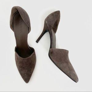 Vince. Suede Brown Mules Heel Pumps size 8